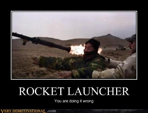 FAIL,idiots,rocket launcher,whoops,yikes,You are doing it wrong
