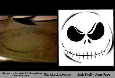jack skellington plate stain the nightmare before christmas water
