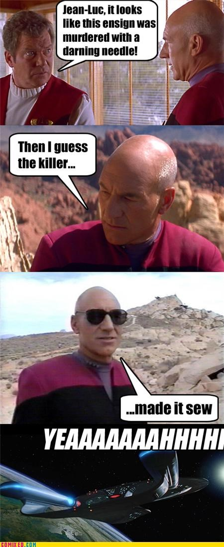Captain Kirk,csi,glasses,jean-luc picard,Star Trek,TV,yeah