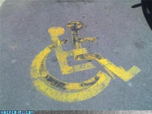 handicapped parking sexual Street Art wheelchair - 4143388928