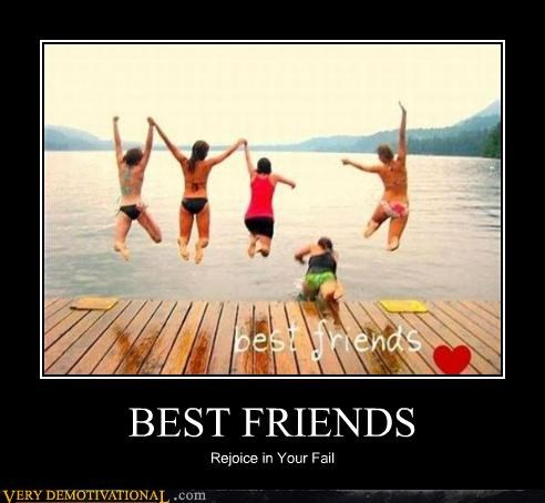 bff bikinis FAIL friends friends suck jumping Mean People ouch water - 4143473920