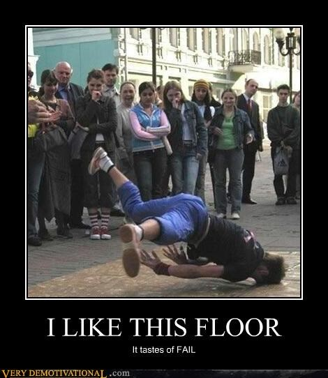 FAIL fall floor idiots Mean People ouch - 4143509504