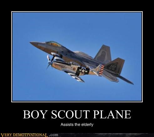 BOY SCOUT PLANE Assists the elderly