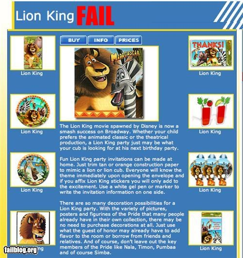 disney failboat g rated lion king madagascar movies