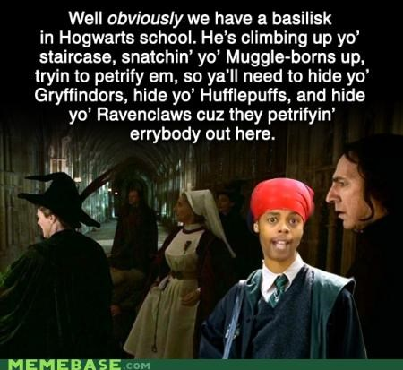Antoine Dodson bed intruder Harry Potter Hogwarts Memes witchcraft wizardry - 4145182720