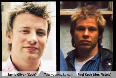 chefs,jamie oliver,musician,paul cook,sex pistols
