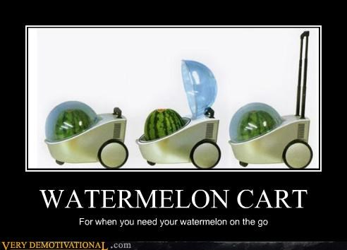 cart,convenient,food,impossible,modern living,nom nom nom,watermelon,wtf