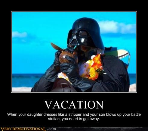 chillaxing,darth vader,mai thais,Sad,star wars,vacation