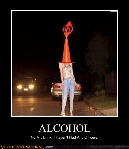 alcohol,cars,cones,drinking,drunk driving,lol,officers,slow