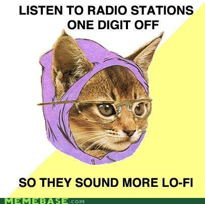 Hipster Kitty,lo-fi,Memes,radio