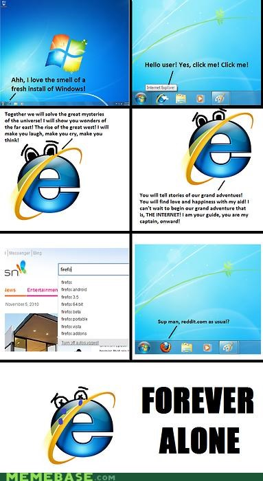 browser forever alone Memes windows - 4147076352