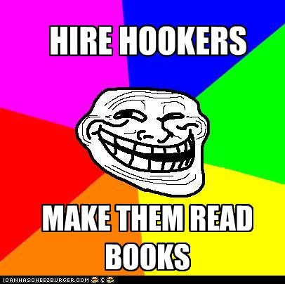 Memes,reading is fundamental,troll,troll face