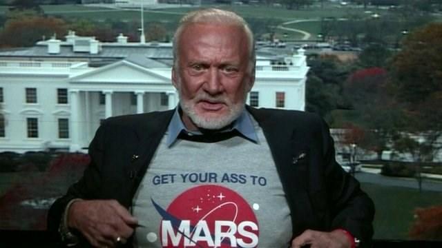 nasa buzz aldrin T.Shirt Mars stonehenge - 414725