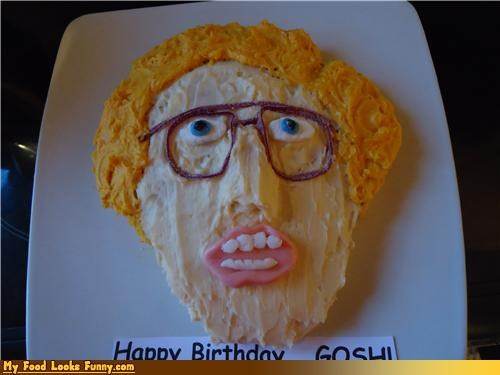 cake,face,frosting,hair,head,napoleon dynamite,Sweet Treats
