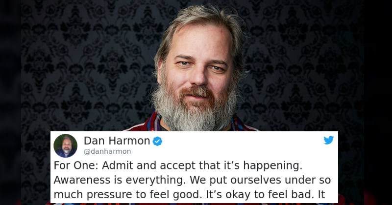 Dan Harmon Comes in Clutch and Delivers Amazing Advice to Young Fan About Dealing With Depression