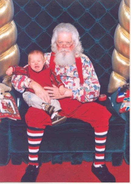 Don't mess with Santa kid, he just got out of the joint