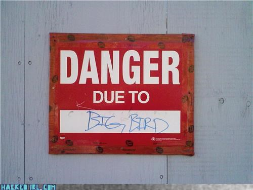danger hacked kids sign