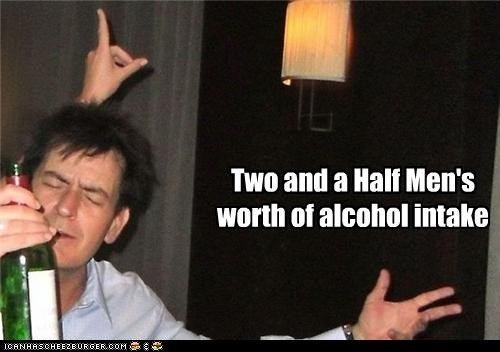 Two and a Half Men's worth of alcohol intake