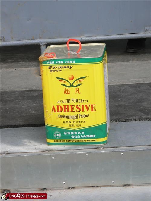 adhesive engrish glue - 4148640768