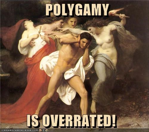 art funny painting polygamy relationship - 4148693504