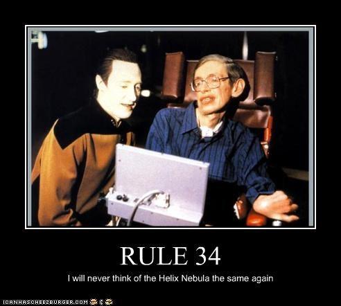 data demotivational funny lolz meme Rule 34 sci fi Star Trek stephen hawking - 4148908544