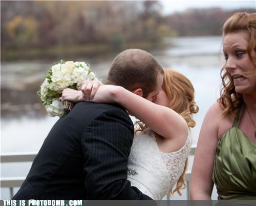 girls Impending Doom jk kissing photobomb wedding whoops - 4149369344