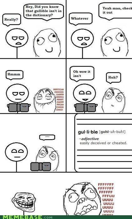 comics fu gullible Memes rage Rage Comics troll troll face - 4149564672