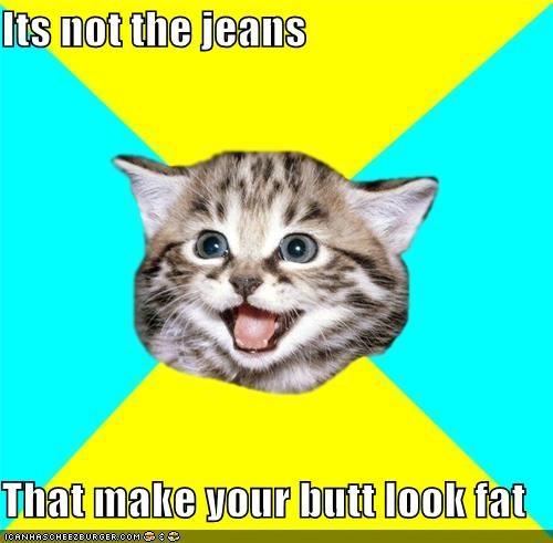 butt fat Happy Kitten jeans - 4149569792