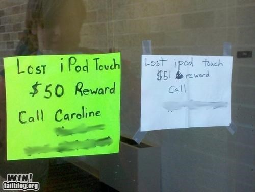 lost reward signs - 4149592576