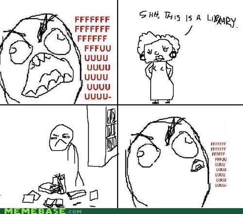 le fu library Memes Rage Comics - 4149676800