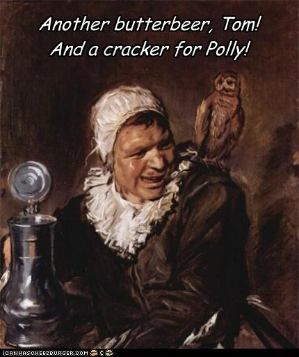 butterbeer cracker drink Owl polly woman