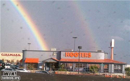 hooters,natural win,rainbow