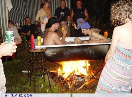 bad idea cooking fire hot tub - 4150494720