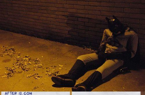 batman broke costume passed out wtf - 4150497280