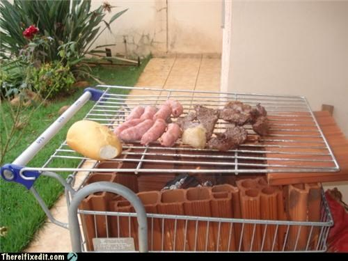 bbq,cooking,shopping cart