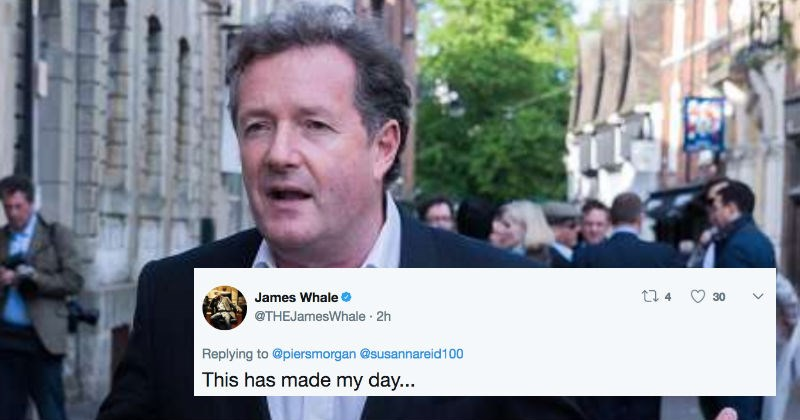 Piers Morgan tries to turn on Christmas lights and it hilariously doesn't work.