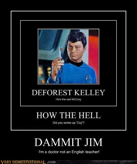 DeForest Kelley english hilarious McCoy recursive Star Trek