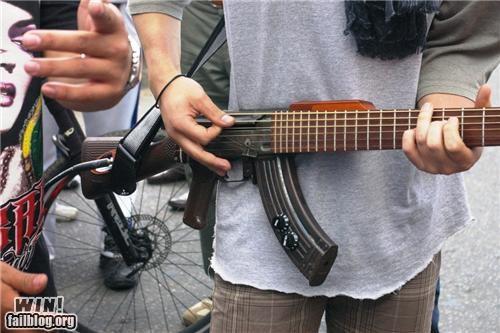 guitar gun Music peace - 4151025664