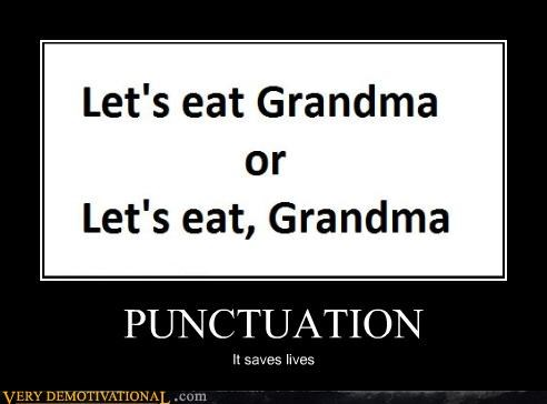 accidents cannibalism english grandma miscommunication punctuation Terrifying - 4151535616