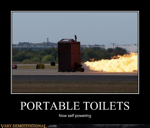 awesome fire porta potty portable toilets wtf