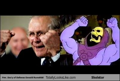 donald rumsfeld,he man,politicians,skeleton,skeletor