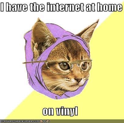 Hipster Kitty,internet,Memes,vinyl