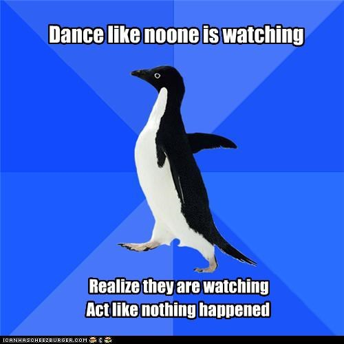 Awkward,dance,Memes,socially awkward penguin