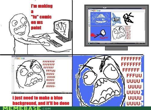 blue comics fu Memes rage Rage Comics - 4152545536