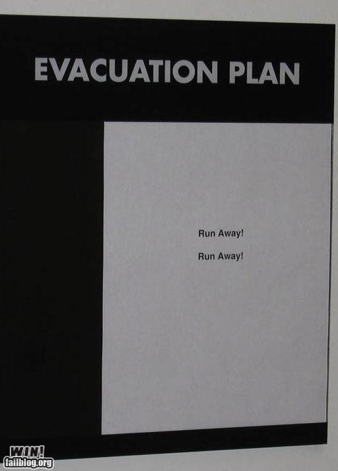 evacuate signs - 4152869632