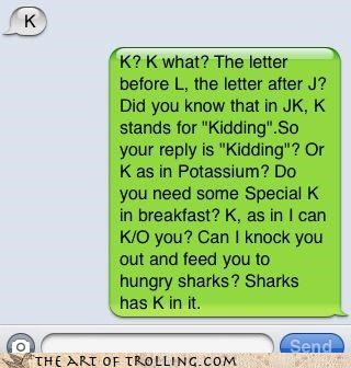 jk k lolz que sharks spanish text - 4153183744