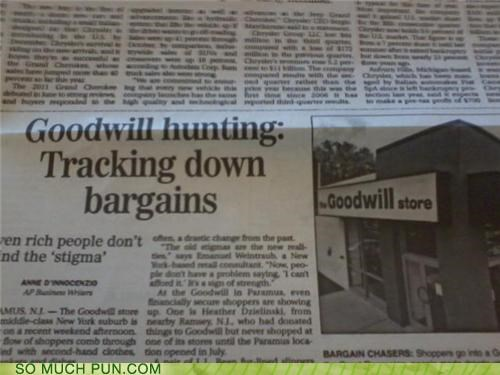 best,best ever,goodwill,goodwill hunting,headline,hunting,newspaper