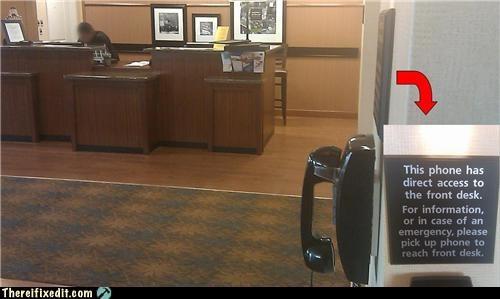 front desk hotel phone - 4153301504