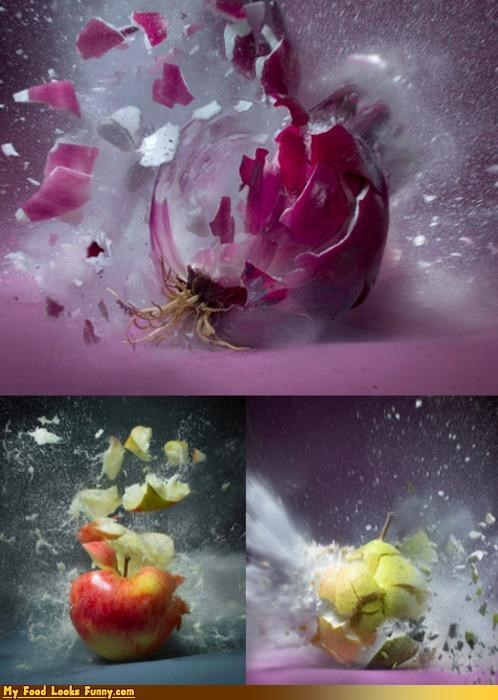 boom bullets explosions fruit fruits-veggies guns photos shooting