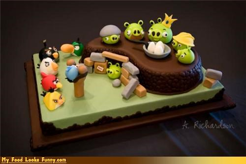 angry birds,apps,birds,cake,games,iphone,pig,Sweet Treats